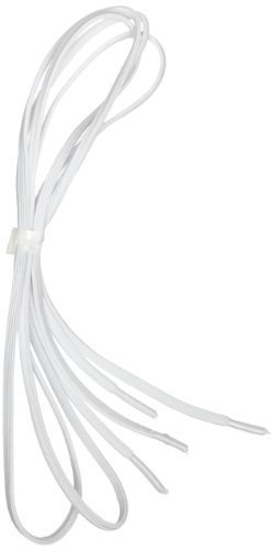 Perma-Ty 738130030 30'' White Elastic Shoelaces (Pack of 3 Pairs) by Maddak Inc.