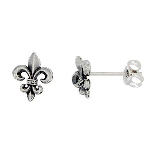 Sterling Silver Fleur Stud Earrings