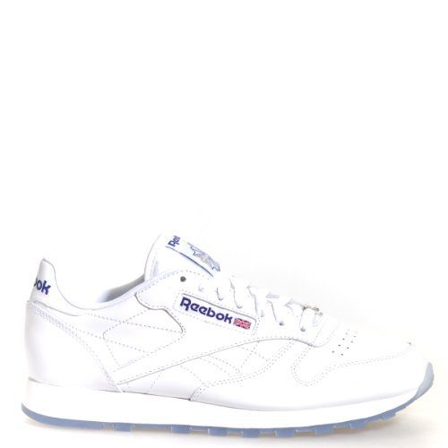 Reebok Men's Classic Leather Ice Sneaker,White/Reebok Roy...