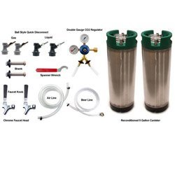 Tank No Homebrew Co2 - Two Tap Refrigerator Conversion Kit for Homebrew - No CO2 Tank