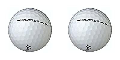 Wilson Staff Duo Spin Golf Balls PDQ, 2 ball Pack (White)