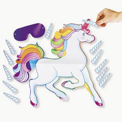Fun Express Pin The Horn On The Unicorn Party Game (Pin The Tail On The Pony)