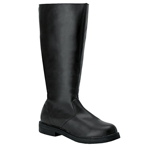 Mens Stivali Alti Al Ginocchio Pirate Boot Theater Costume Nero Bianco Marrone Mens Dimensionamento Nero
