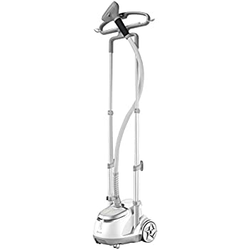 SALAV Professional Series Dual Bar Garment Steamer with Foot Pedals, GS45-DJ Silver
