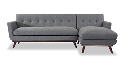 Kardiel Jackie Mid-Century Modern Sectional Sofa Right, C...