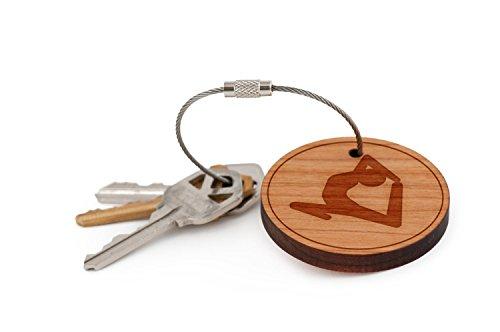 Yoga-Keychain-Wood-Twist-Cable-Keychain