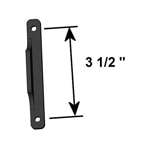 Black sliding screen door pull handle replacement 3 1 for Front door handle 7 5 inches