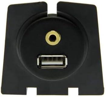 Adapter-Universe/® 4391 Prise Allume-Cigare avec Prise Jack 3,5 mm encastrable