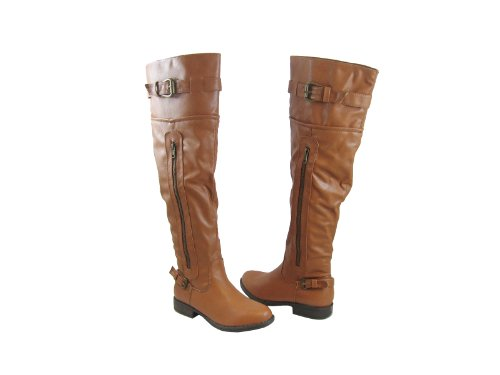 Boots Riding the Over Knee Chestnut Over the nzI44wOqX