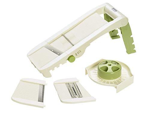 Lurch Vario Non Slip Adjustable Mandoline Food Slicer with Interchangeable Blades (Green/White)