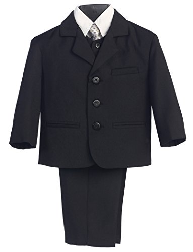 Avery Hill Baby Boy's Black Dress Suit with Shirt Vest & Tie - Infant XL (12-18 - Black Hills Rings Baby