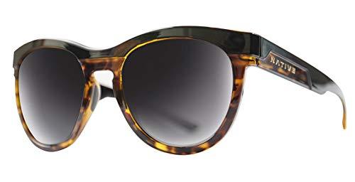 Native Eyewear La Reina Polarized Sunglasses, Gloss Black/Tort Frame/Gray ()