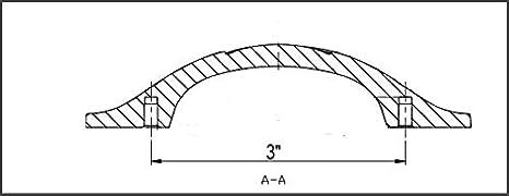 Basics Schubladengriff Lochmitte zu Lochmitte: 7,62 cm L/änge: 11,43 cm 10er-Pack M/öbelgriff Ge/öltes Bronze verdrehtes Design