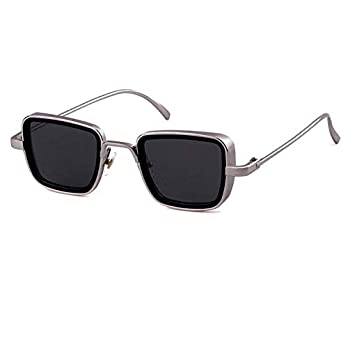 Silver Kartz Branded Metal Body Silver Square inspired from Kabir Singh Sunglass for Men and Boys (wy245)