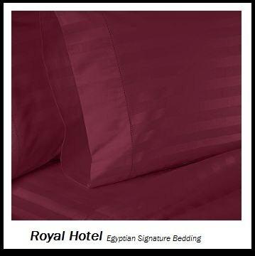 Royal's Striped Burgundy 800-Thread-Count 4pc California-...