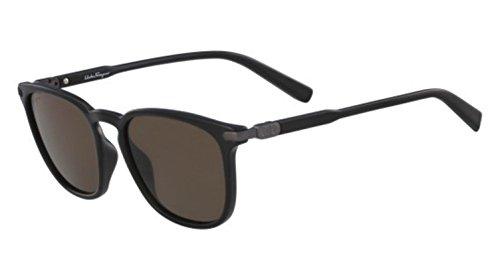 (Salvatore Ferragamo Men's SF881SM Black/Solid Brown One Size)