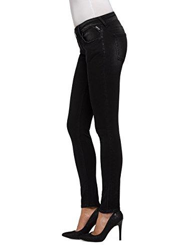 Skinny Femme Jeans Noir Coin Zip Black Replay Luz 7 qxXtfAZf