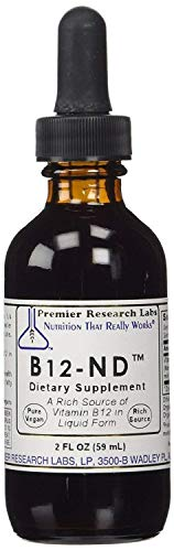 Premier Research Labs B12-ND - Water-Soluble Source Of Vitamin B12 (2 Ounces, 58 Milliliter)