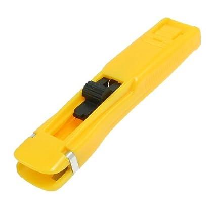 DealMux carga del muelle de empuje hacia adelante acolchar almeja Clip dispensador amarillo
