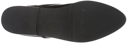 Buffalo London 415-1271 Patent Leather, Zapatillas de Estar por Casa para Mujer Negro - negro (negro 01)