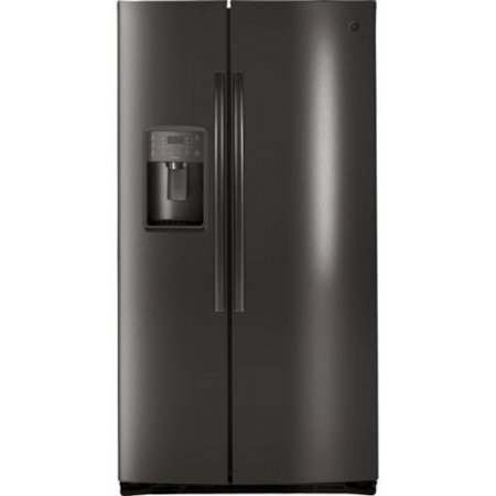 GE Profile PSE25KBLTS 36 Inch Freestanding Side by Side Refrigerator with 25.3 cu. ft. Capacity in Black Stainless Steel (Profile Refrigerator Stainless Steel Ge)