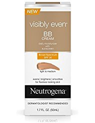 Neutrogena Visibly Even Bb Cream Daily Moisturizer SPF 30, L