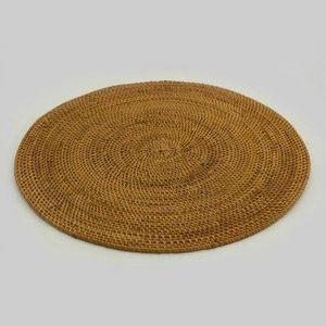 Placemats Rattan Wicker Set of 4 Place Mats or Chargers Round 12 inches