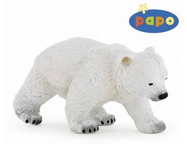 Papo Walking Polar Bear Cub Figure Multicolor