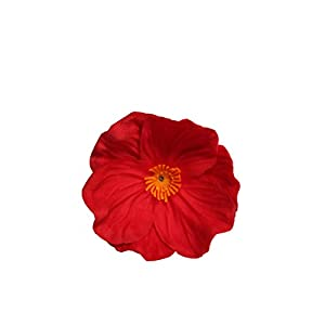 """Mandy's 10pcs Red Poppies Silk Artificial Flowers 12.5"""" PU for Wedding Home & Kitchen (vase not Include) 3"""