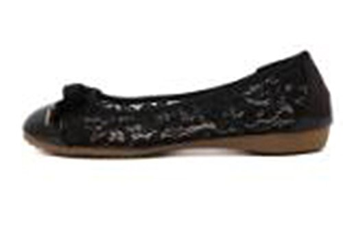 Flat Slip Black Chickle US On Women's 8 Shoes W8SAqIfP