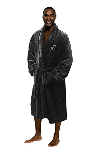 The Northwest Company Officially Licensed NFL Oakland Raiders Men's Silk Touch Lounge Robe, Large/X-Large (Raiders Merchandise)