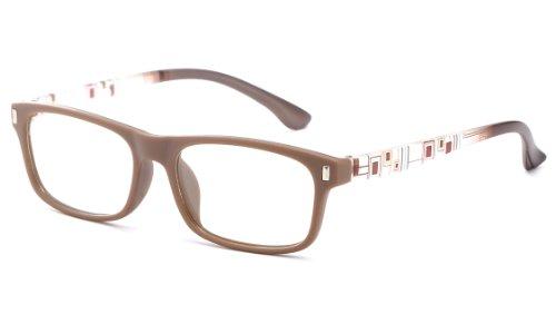 Slick Slim Wayfarer Style Matte Finish Reading Glasses by IG Brown