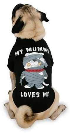 Casual Canine Polyester/Cotton Mummy Loves Me Tee, Small/Medium, 14-Inch, Black ()