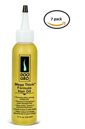 DOO GRO MEGA THICK FORMULA HAIR OIL,4.5 fl oz (125 ml), 7 Pack by Doo Gro
