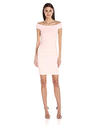 Nicole Miller Women's Structured Jersey Off Shoulder Dress, Petal Pink/Ppi, 6