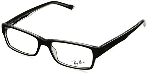 RAY BAN Authentic 5169 clear top black on transparent 2034 ,Designer - Transparent Ray Frame Ban