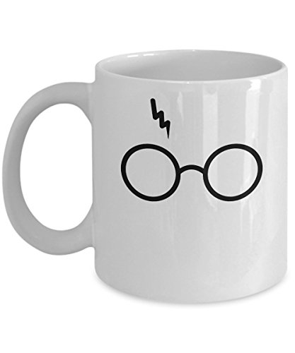 Harry Potter Glasses Coffee Mug – Cool Design for Gift Cup – Lightning Bolt Characters - Wizards -