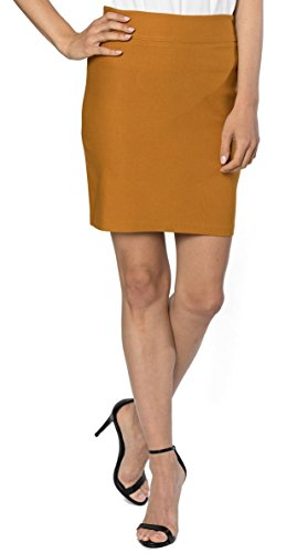 Womens Stretchable Mini Pencil Skirt - Above The Knee 19