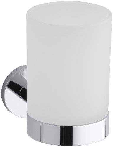 KOHLER K-14463-CP Stillness Tumbler and Holder, Polished Chrome by Kohler