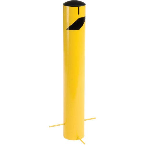 Steel Bollard With Removable Plastic Cap & Chain Slots For Underground 36