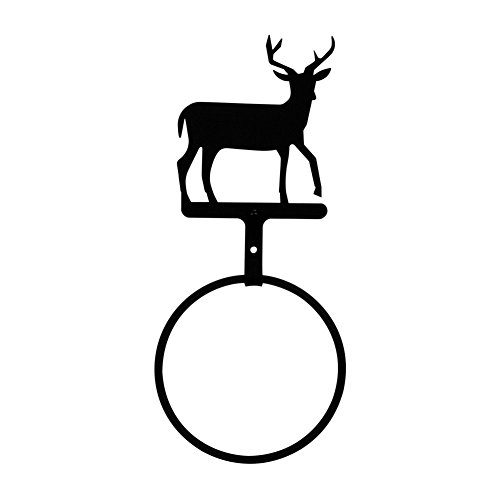 Metal Wall Mount Deer/Elk Antler Towel Holder/Hanger Rustic Cabin Bathroom Decor best