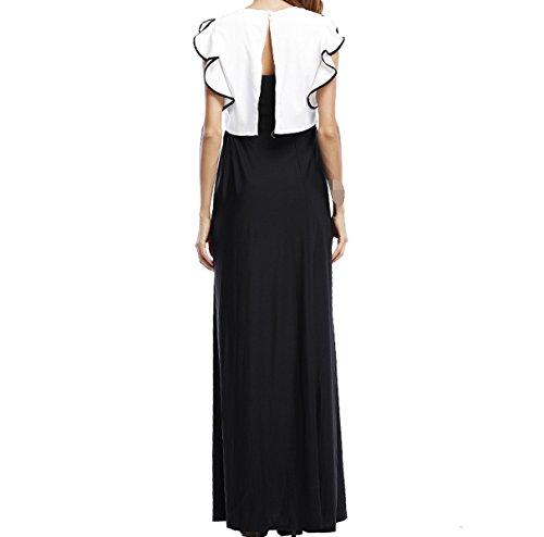 En El Verano Señora Cómodo Simple Delgado Relajado Vestidos Black