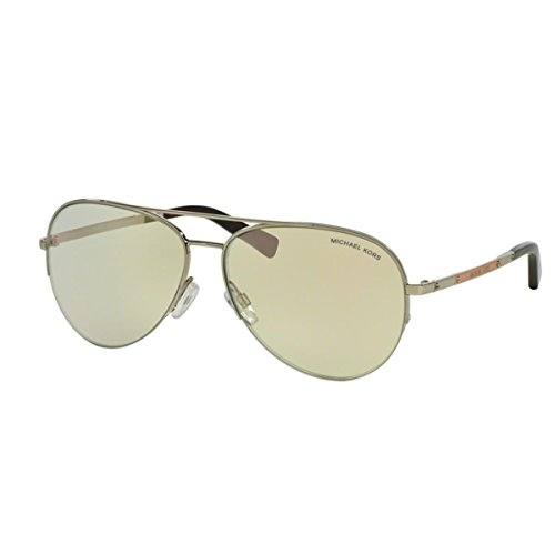 Michael Kors Gramercy Sunglasses MK1001 100145 Silver Silver Flash 59 14 - Aviators Kors Michael Mirrored