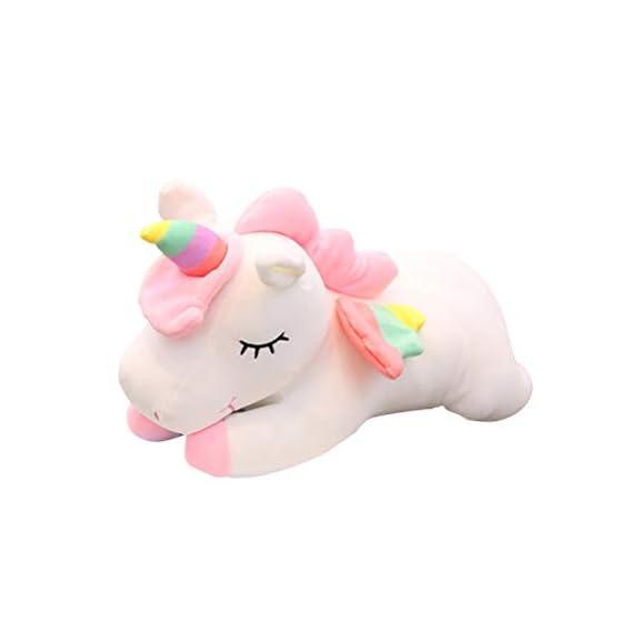 TOYMYTOY Unicorn Plush Toy Stuffed Animal Pillow Cushion Soft Toys for Baby Kids 30cm (Pink)