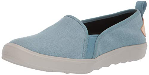 Image of Merrell Women's Around Town ADA MOC Canvas Sneaker, Blue Smoke, 10.5 M US