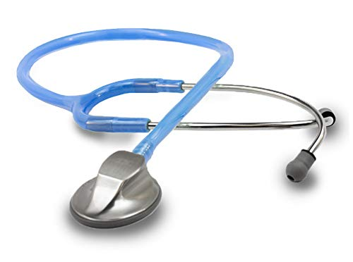 ADC Adscope 615 Platinum Sculpted Clinician Stethoscope with Tunable AFD Technology,, Sapphire Ice