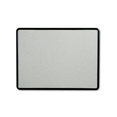Contour Fabric Bulletin Board, 48 x 36, Gray Surface, Black Plastic Frame, Sold as 1 - Frame Gray Graphite Plastic