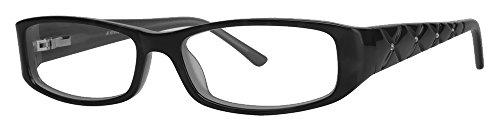 Calabria Viv 685 Designer Reading Glasses in Black-Crystal ; +0.75