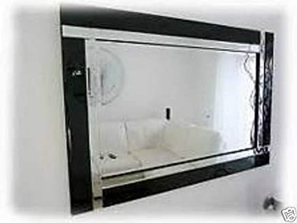 CHIC Espejo de Pared Rectangular de Cristal Biselado, Negro, 120 x 80 cm: Amazon.es: Hogar