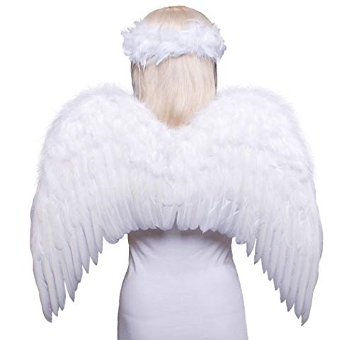 FashionWings (TM Teens Adults Classic White Costume Feather